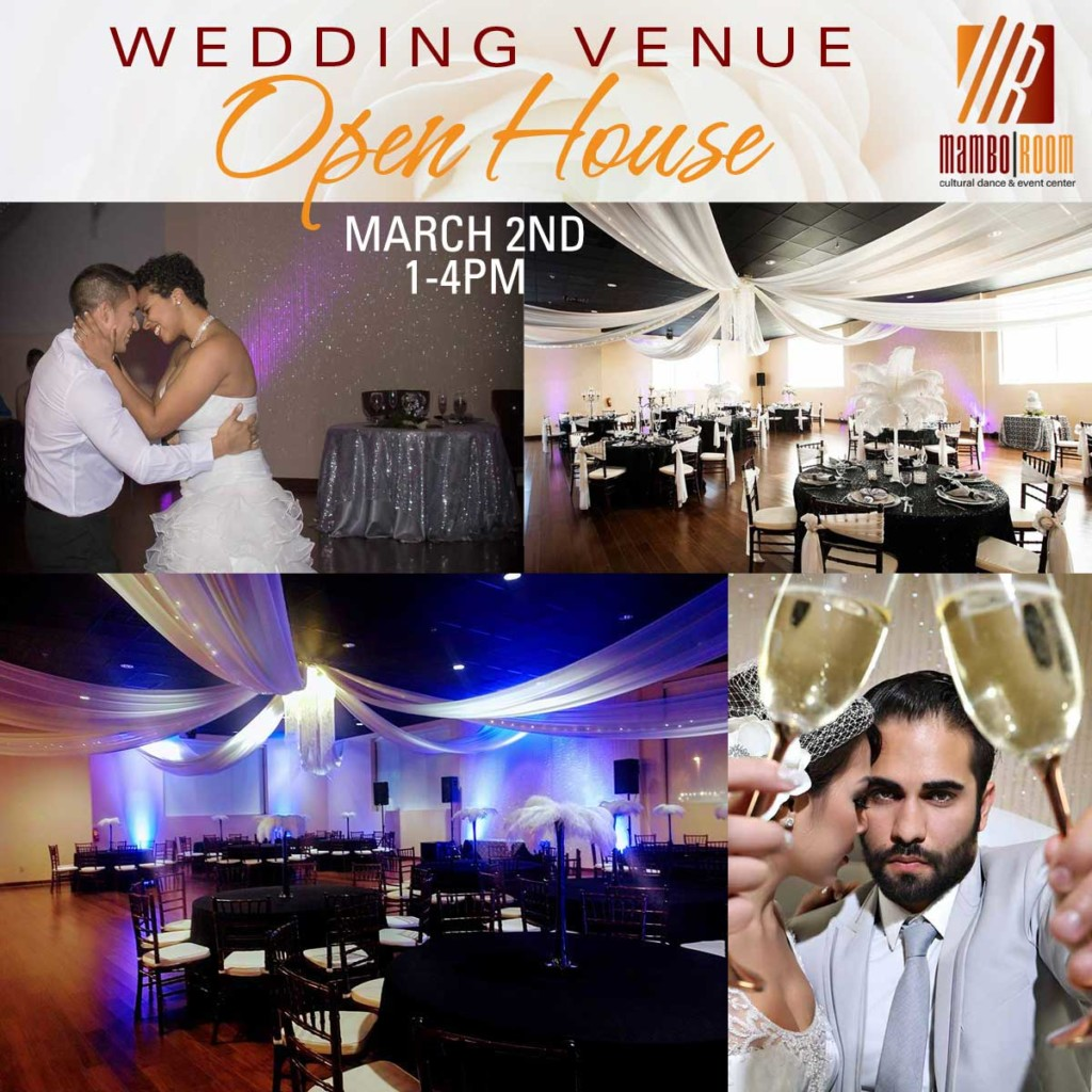 Venue Open House March 2nd, 1-4pm